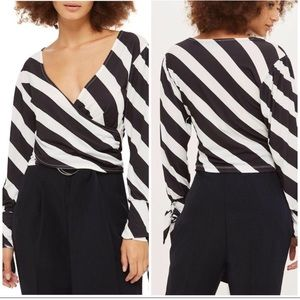 TopShop women's wrap top blouse